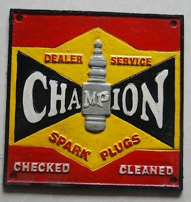 Collectable Cast Iron  Champion Spark Plugs Sign  ...