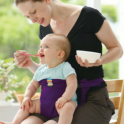 Portable Baby Safety Belt Stretch Wrap Booster Chair Seat Feeding Chair Harness