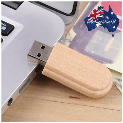 1/2/5PCS Wooden Box USB 2.0 Flash Memory Stick Pen Thumb Drive 8GB  Retro Lot E5