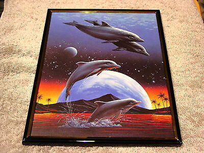 DOLPHINS 8X10 FRAMED PICTURE #3 ( poster )