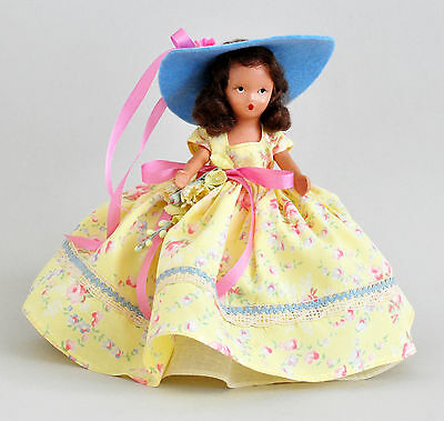 Lovely 1940s Nancy Ann Storybook Doll A Flower Girl for May #191 w Hat & Flowers