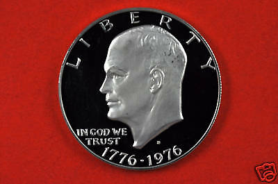 1976-S Deep Cameo GEM Proof(Type2) Eisenhower US One Dollar Coin(c/n clad)