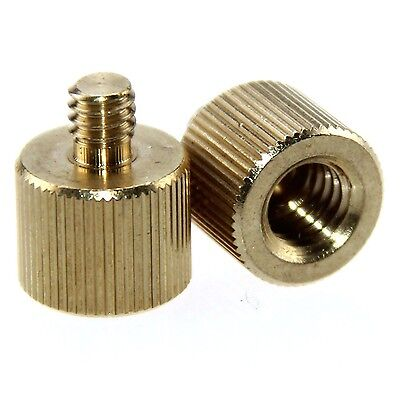 "2 Pack 3/8"" -16 Female to 1/4""-20 Male Tripod Thread Reducer Adapter for tripod"