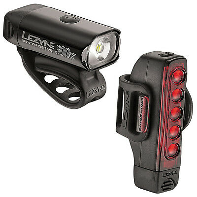 Lezyne Hecto Drive 300XL/Strip Light Set Bike Front & Rear LED USB Rechargeable