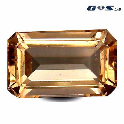 5.35 ct GSL Certified Tremendous Octagon Cut (13 x 8 mm) Morganite Gemstone