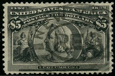 #245 $5 Columbian Vf+ Used With Pf Cert Wlm2400