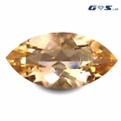 3.41 ct GSL Certified Charming Marquise Cut (17 x 9 mm) Morganite Loose Gemstone