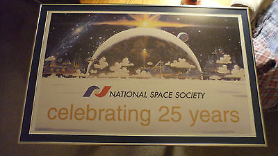 National Space Society Lithograph Robert McCall Signed 6/100 Framed