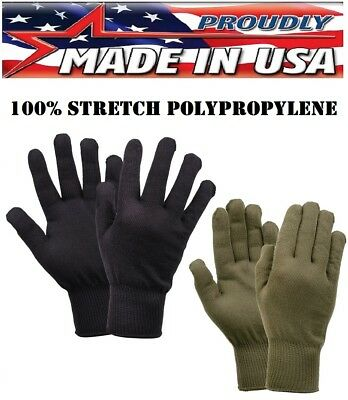 G.I. Military Style Polypropylene Glove Liners MADE IN THE U.S.A. Rothco 8413