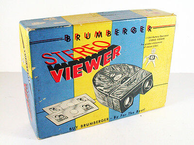 Brumberger 3D Stereo Slide Viewer with Box