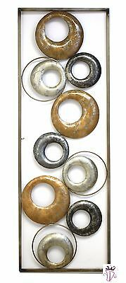 Abstract Metal Circle Quality Display Wall Art Hanging 90cm Home Garden Decor