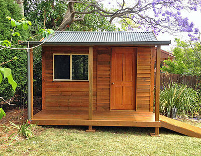 Studio, Cabin, Workshop, Granny Flat - with Flooring - Easy DIY Kit - Stained