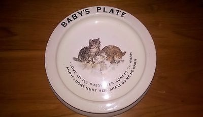 Vintage Baby Child Plate Bowl