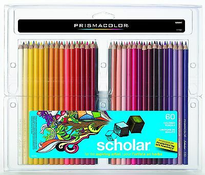 PRISMACOLOR Scholar Pencil Art Pencils Box of 60 Assorted Colours (92808HT)
