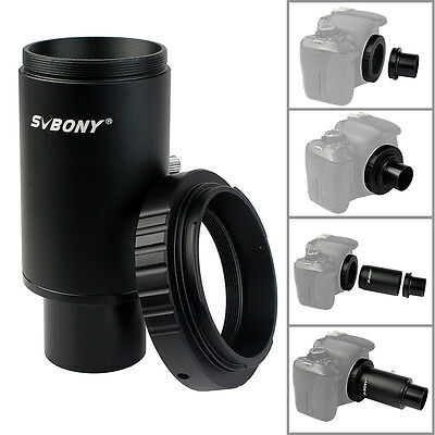 "1.25"" CA1 Extension Tube M42 Thread T-Mount Adapter+T2 Ring for Canon Telescope"