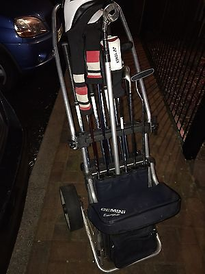 Golf Cart Trolley With Seat ( No Batteries Required) Gemini Executive
