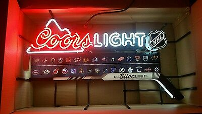 Box Coors Light NHL Neon Sign with all Teams New in Box.