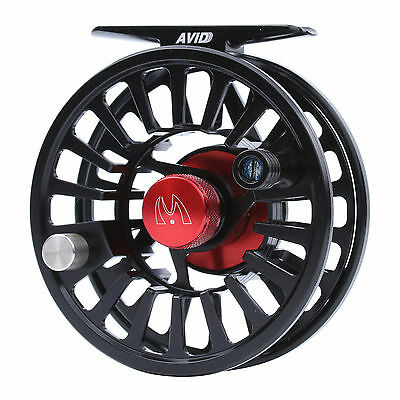 Maxcatch Fly Reel 3/4/5/6/7/8WT CNC Machined Aluminium Black Fly Fishing Reel