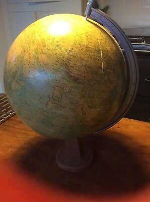 Vintage Spinning, Rath, Physical Globe, 1977, 33 cm diameter, on stand