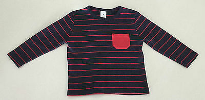 BRAND NEW WITHOUT TAGS - Boys Charcoal & Red Knit Jumper - Size 2 - Target Brand