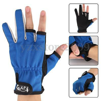 3 Shorter Finger Guanti da pesca Waterproof Fishing Gloves Hunting Anti-Slip