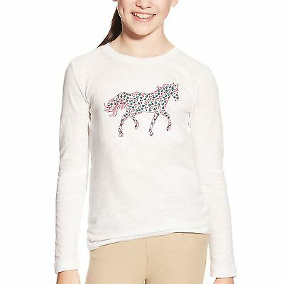 Ariat Kids Embroidered Long Sleeve Top Bnwt