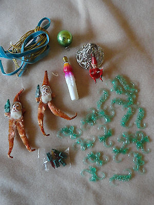 LOT OF VINTAGE CHRISTMAS TREE DECORATIONS 1960s