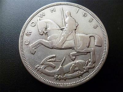 1935 George 5Th 'rocking Horse' Crown, .500 Silver, Capsuled Good Condition
