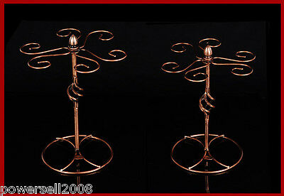 New European Decoration Antique Brass Wrought Iron Wine Glass Holder Rack &$