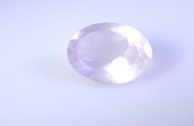 Rose Quartz Faceted Pink Oval gems 10x14 1 pc