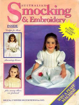 AUSTRALIAN SMOCKING & EMBROIDERY magazine NO.17 - see pics