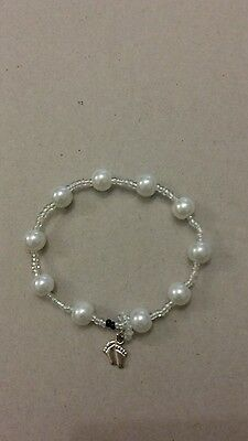 Maternity kick counting bracelet tracker pregnancy mom to be gift white pearl