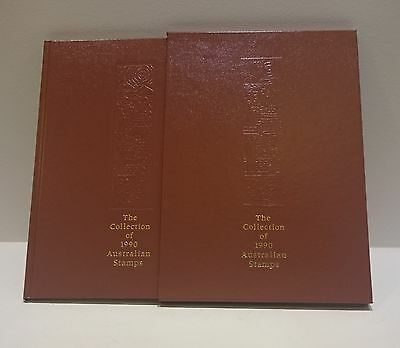 The Collection of 1990 Australian Stamps Album and Slipcase - No Stamps Included
