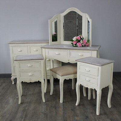 Furniture Bundle Dressing Table Set Chest of Drawers Pair of Bedsides Bedroom