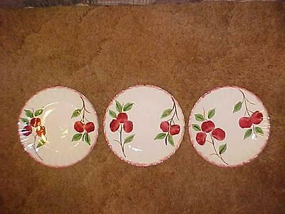 Lot of 3 Blue Ridge Southern Pottery Crab Apple or Cherry Plates