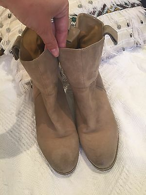 Tony Bianco Suede Taupe Boots 7