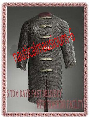 9 mm Flat riveted Rings chain mail armour/Medieval/Viking/ Large size Hauberk