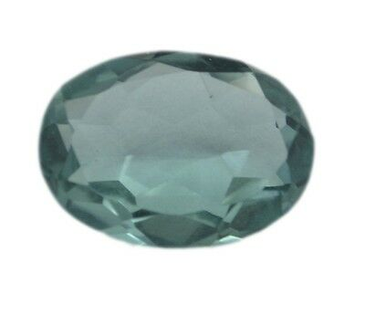 Oval Green Fluorite 10X14 1 pc Faceted Green gems UK