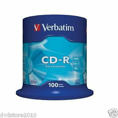 Verbatim CD -R Extra Protection 700MB  52x Pack Spindle 43411