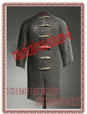 9 mm Flat riveted Rings chain mail armour/Medieval/Viking/ X  Large size Hauberk