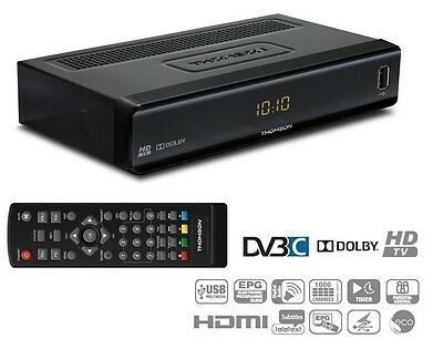 Thomson THC 300 HD Kabelreceiver digital DVB-C Cable HDTV Receiver schwarz
