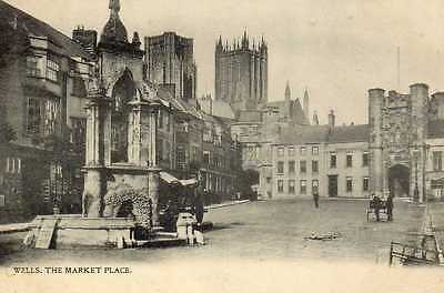 Wells, Somerset: The Market Place.  (Posted Oct 1903)