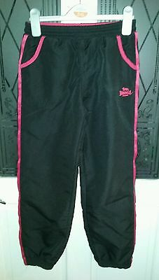 Lovely Little Girls Black Tracksuit Bottoms Age 9-10 Years ~ Lonsdale