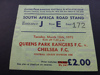 Queens Park Rangers v Chelsea. 18th March 1975.