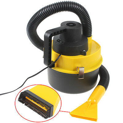 12V Mini Portable Car Vehicle Auto Wet Dry Handheld Vacuum Cleaner + Brush