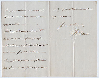 ISAMBARD KINGDOM BRUNEL, famous engineer, Autograph Letter Signed
