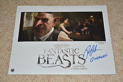 RON PERLMAN signed Autogramm 20x25 cm In Person FANTASTIC BEASTS
