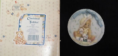 Enesco Corp 1994 CHARITY - Cherished Teddies Collectable Hanging Plate  BNIB
