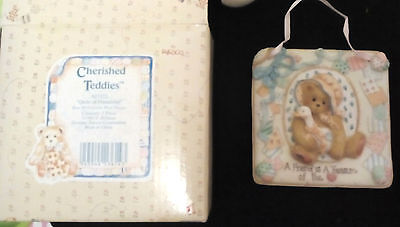 Enesco Corp. 1993 QUILTS OF FRIENDSHIP  Cherished Teddies   Friends to treasure