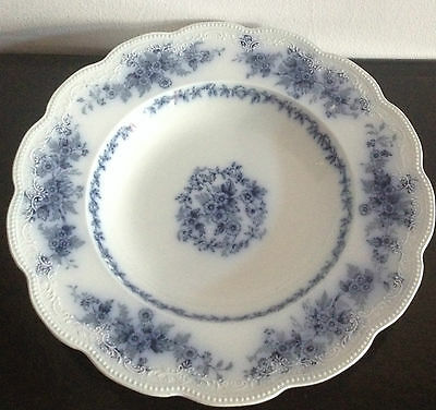 Fabulous Antique W.H.Grindley Eileen Pattern 41 Blue and White Serving Bowl EXC!